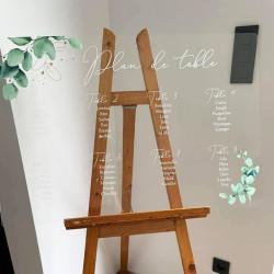 Plan de table eucalyptus en plexi