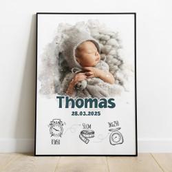 Affiche naissance Thomas