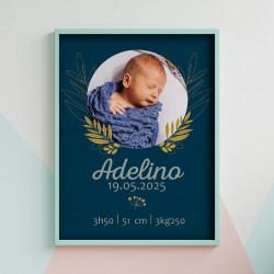 Affiche naissance Adelino