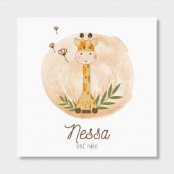 Faire-part de naissance girafe Nessa