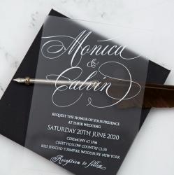 Faire-part mariage en acrylique plexiglass opaque