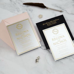 Faire-part mariage en acrylique miroir argent