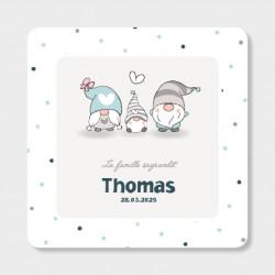 Faire-part de naissance famille Lutin Thomas