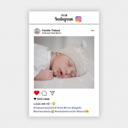 Faire-part de naissance Instagram