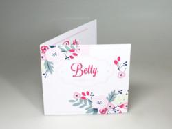 Faire-part Betty blush fleur BS-243GK
