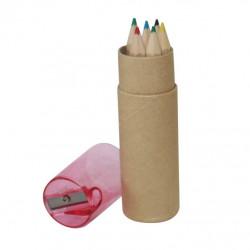 Etui de 6 crayons de couleur personnalisé