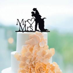 Décorations pour gâteaux de mariage Mr & Mrs