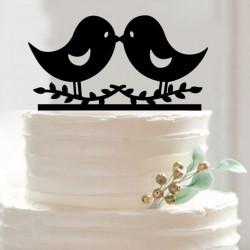 Décorations pour gâteaux de mariage Oiseaux
