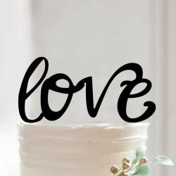 Décorations pour gâteaux de mariage LOVE