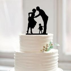 Décorations pour gâteaux de mariage Mariés et enfant