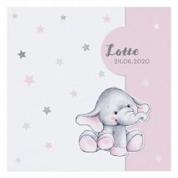 Faire-part de naissance adorable éléphanteau 717010F