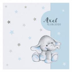Faire-part de naissance adorable éléphanteau 717011F