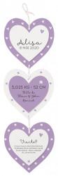 Faire-part de naissance Joli pendentif composé de 3 cœurs 717056F