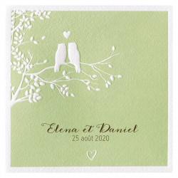 Faire-part de mariage chouettes les amoureux 724052F