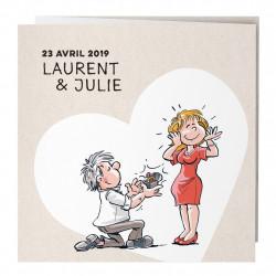 Faire-part de mariage histoire d'amour 727019