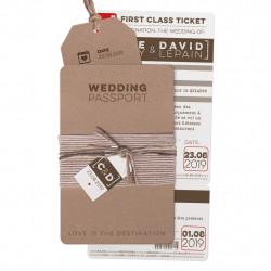 Faire-part de mariage - Passeport avec carte d'embarquement 727038FR