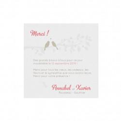 Faire-part de mariage oiseaux sur la branche 727012