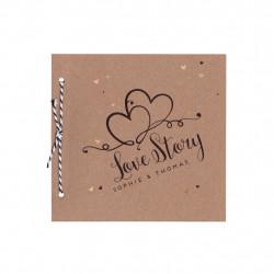 Faire-part de mariage - Love Story 728001F