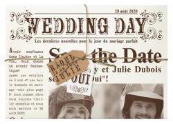 Faire-part de mariage - journal 728002F