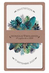 Faire-part de mariage - Fougères botaniques 728004F
