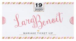 Faire-part de mariage - Ticket VIP 728021F