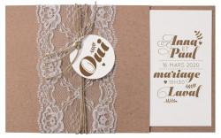 Faire-part de mariage - Champêtre 728026F