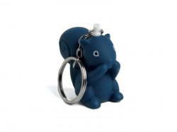 Porte-clé écureuil bleu foncé