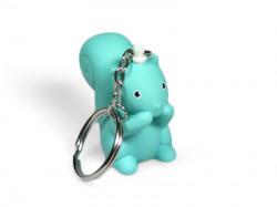 Porte-clé écureuil bleu océan