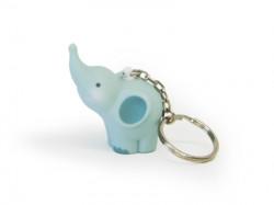 Porte-clé éléphant bleu