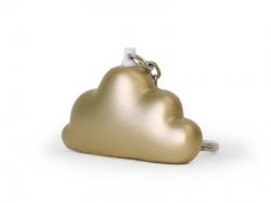 Porte-clé nuage or