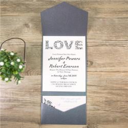 Faire-part mariage modèle pochette WPFA2115