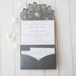 Faire-part mariage pochette ciselé WPFB2120