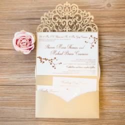 Faire-part mariage pochette ciselé WPFB2123