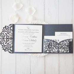 Faire-part mariage pochette ciselé WPFC2125