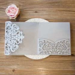 Faire-part mariage pochette ciselé WPFC2126