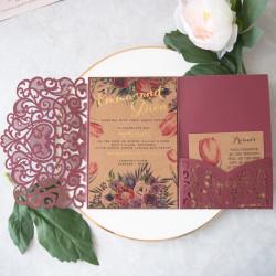 Faire-part mariage pochette ciselé WPFC2128