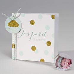 Faire-part naissance confettis paillettes 507.045