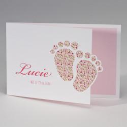 Faire-part naissance petits pieds liberty 507.111