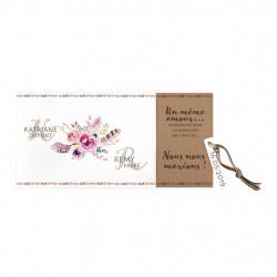 Faire-part de mariage bouquet de fleurs 727011