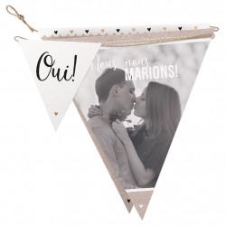 Faire-part de mariage banderolle 727016FR