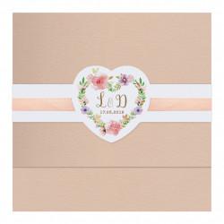 Faire-part de mariage avec motif floral 727036W