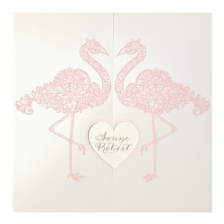Faire-part de mariage Flamants roses 727037W