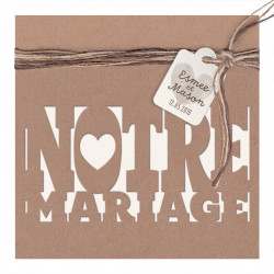 Faire-part de mariage kraft tendance et corde 727045FR