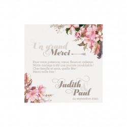 Carte de remerciement - Aquarelle de fleurs 728505F