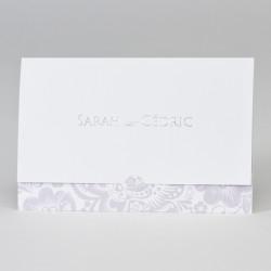 Faire-part mariage pochette mauve 108.073