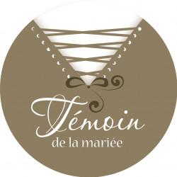 Badge corset mariage personnalisé