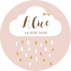 Badge nuage fille