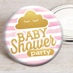 Badge Baby Shower nuage