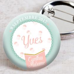 Badge mariage chou à la crème