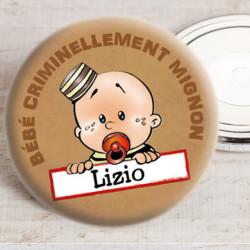 Badge bébé criminel